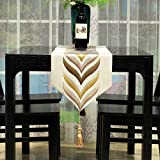 The Hotel Restaurant Table Runner Dining Room Ling Room Table Decoration Cloth Tassel-A 32x240cm(13x94inch)