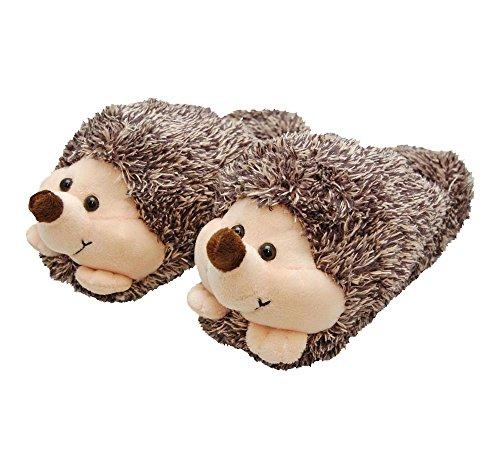 Novelty Fun Animal Slippers Hedgehog L2h1qRJzov