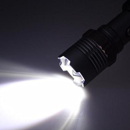 Linterna Táctica LED Alta Potencia, Yusealia Linterna Rechargeable,20000LM T6 LED Zoomable Linterna de 3 Colores, Linternas Táctica para Ciclismo,Camping ...