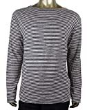Gucci Men's Blue/Beige Linen Vintage Striped Long Sleeve T-Shirt 408854 4267 (XL)