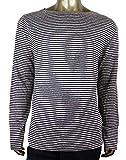 Gucci Men's Blue/Beige Linen Vintage Striped Long Sleeve T-Shirt 408854 4267 (Medium)
