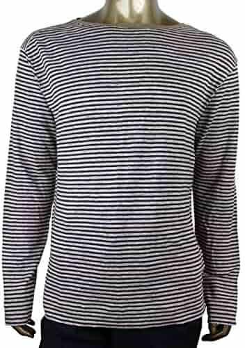 43ea5a41a28 Gucci Men s Blue Beige Linen Vintage Striped Long Sleeve T-Shirt 408854 4267
