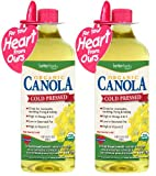 BetterBody Foods Organic Cold Pressed Canola Oil, 32-Ounce (Pack of 2)