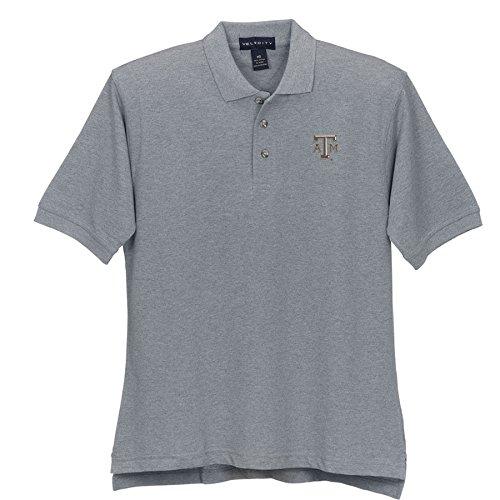 Elite Fan Shop Texas A&M Aggies Cotton Polo Oxford - XL - Oxford Gray Grey ()