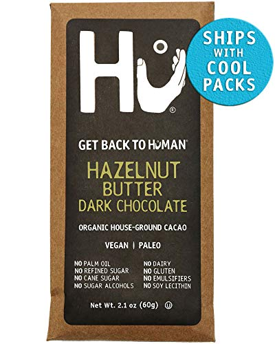 (Hu Chocolate Bars | 4 Pack Hazelnut Butter | Natural Organic Vegan, Gluten Free, Paleo, Non GMO, Fair Trade Dark Chocolate | 2.1oz Each)