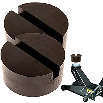 MISSION AUTOMOTIVE 2-Pack of Rubber Jack Pads (Slotted Pucks) - Universal, Standard-Size Adapter - Frame Rail Protector Puck/Pad Keeps Pinch Weld, Paint and Metal Safe: Automotive