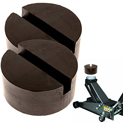 2-Pack of Rubber Jack Pads (Slotted) - Universal