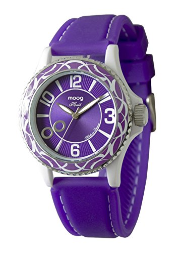 Moog Paris Huit Women's Watch with Purple Dial, Purple Strap in Silicon - M45524-006