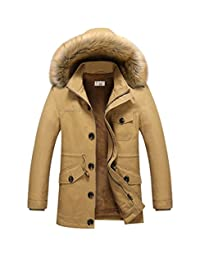 AooToo Mens Thicken Hooded Winter Coat