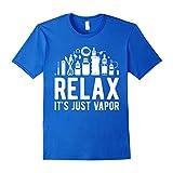 Men's Relax it' just Vapor - Vape T Shirt Medium Royal Blue
