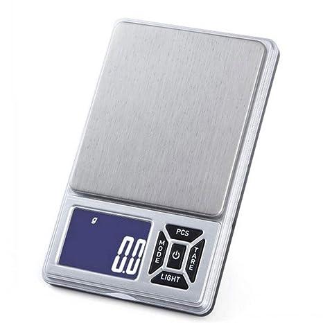 LSRRYD Báscula Digital para Cocina Acero Inoxidable, 500g ...