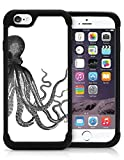 iPhone 6 6S Plus Case Cover OxyHybrid Vintage Octopus Pencil Art Marine Sea Nautical Drop Protection Plastic And Silicon Hybrid Case.