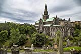 Glasgow St Mungo's Cathedral Landscape Poster Print 24x 36