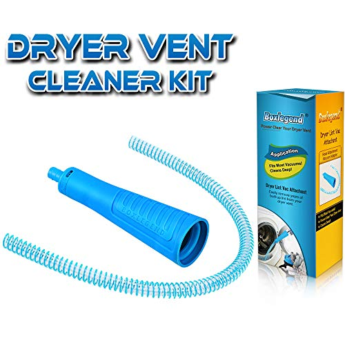 Dryer Vent Cleaner Kit Vacuum Hose Attachment Brush Lint Remover Power Washer and Dryer Vent Vacuum Hose (Best Way To Clean Dryer Lint Trap)