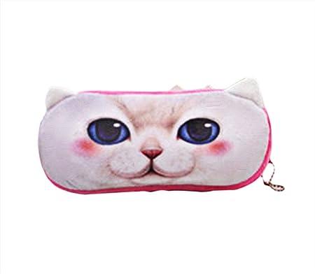 Dosige Estuche de forma de gato,Bolsa de almacenamiento,Bolsa de cosméticos, Estuche de lápices de papelería,Para bolígrafos,lápices,Teléfono móvil,varios artículos de papelería size 21 * 11cm: Amazon.es: Hogar