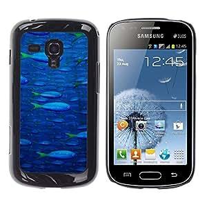 TECHCASE**Cubierta de la caja de protección la piel dura para el ** Samsung Galaxy S Duos S7562 ** Fish Ocean Blue Sea Wildlife Swim Art Painting