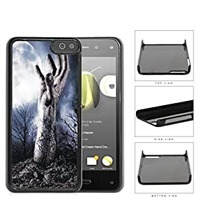 Zombie Hand Above Ground In Forest Hard Plastic Snap On Cell Phone Case Amazon Fire by supermalls