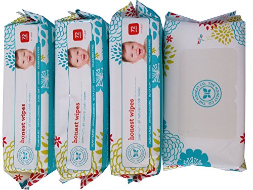 4 Pack – The Honest Company Wipes – 288 Wipes (4 Packages of 72 Ct) NewBorn, Kid, Child, Childern, Infant, Baby