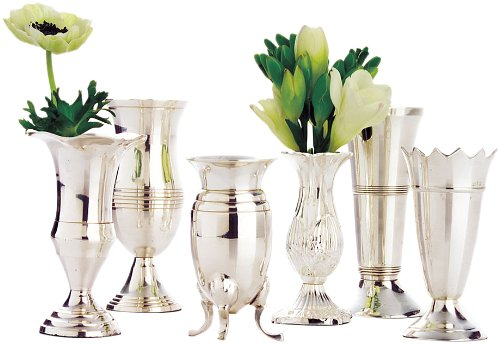 Amazon Twos Company Queen Annes Vases Silver Plated Brass