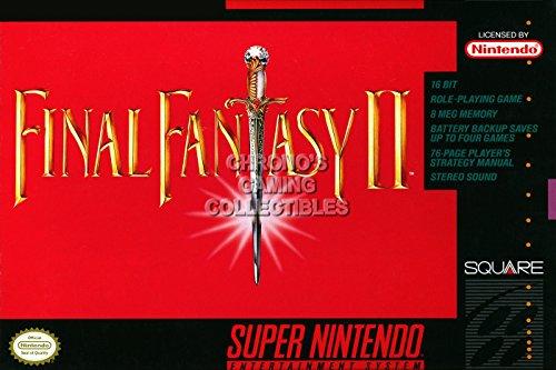 Final Fantasy CGC Huge Poster II IV Super Nintendo SNES Box Art - FNE004 (16