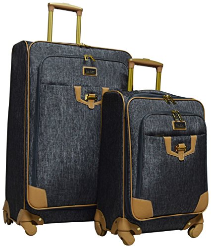 Nicole Miller Paige Collection 2-Piece Expandable Spinner Luggage Set: 28'' and 20'' (Silver) by Nicole Miller