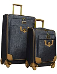 Nicole Miller New York Paige Collection 2-Piece Expandable Spinner Luggage Set: 28 and 20