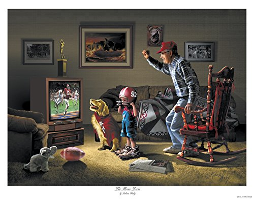 The Home Team – art by Roberta Wesley – direct from Wesley Prints, sole authorized publisher and licensor of artist's work (1) - Artists Child Rocking Chair