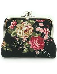 Cute Floral Buckle Coin Purses Vintage Pouch Kiss-lock Change Purse Wallets 6b68c261d637