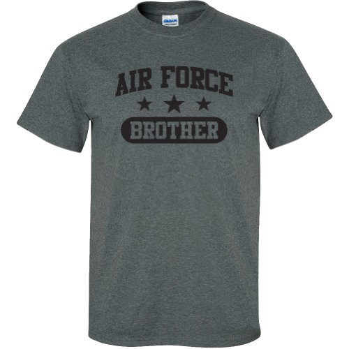 - Air Force Brother Short Sleeve T-Shirt in Dark Heather Gray - X-Large