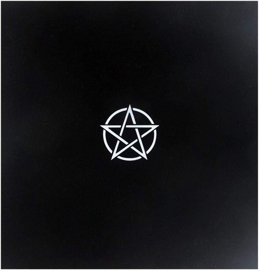 Witchy Black Gothic Tapestry Tarot Cloth for Any Tarot Cards Kitabetty Altar Tarot Cloth 50/×50 cm//Black Five-Pointed Star Flocking Soft Altar Tarot Table Cloth Divination Wicca Velvet Cloth