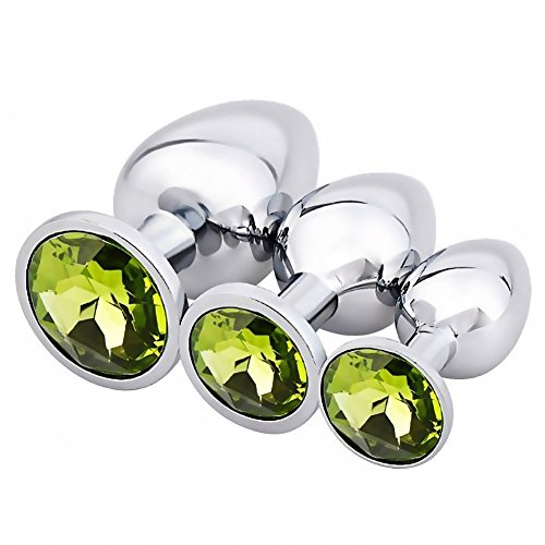 LeafBird Anal Plug Set Beginner Sex Anals Plug Trainer Jeweled Metal Butt Pluģ Woman Anal Plug Toys Jewelry Sex Toys Adult Sex Products Sex Massager for Couple Beginners Large Small Medium