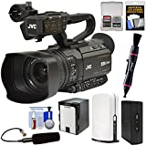 JVC GY-HM250U Ultra 4K HD 4KCAM Professional Camcorder & Top Handle Audio Unit with XLR Microphone + SlingStudio Hub Unit & CameraLink + Battery Kit