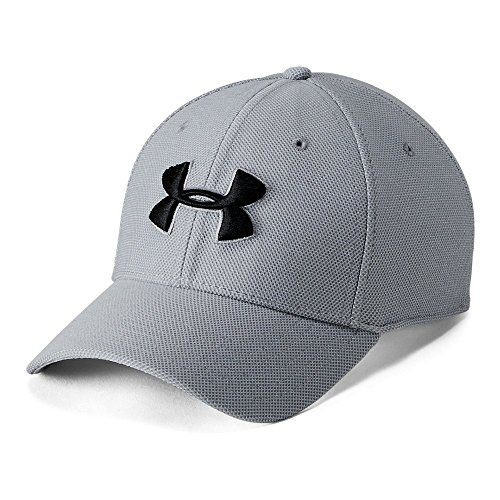 Under Armour Men's Heathered Blitzing 3.0 Cap, Steel (035)/Black, X-Large/XX-Large