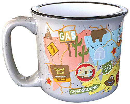 Camp Casual CC-004TM Travel Map Mug