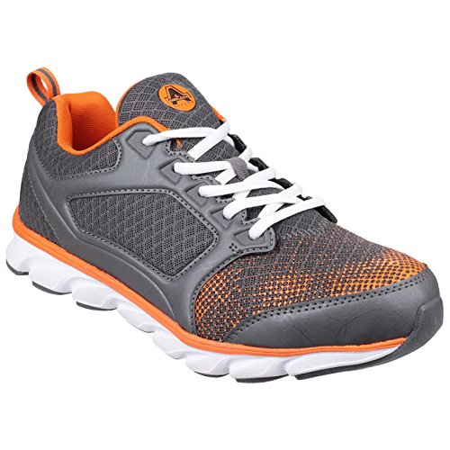 Amblers Safety Mens AS707 Kyanite Lace Up Safety Trainers Grey/Orange 3kcfZzzR