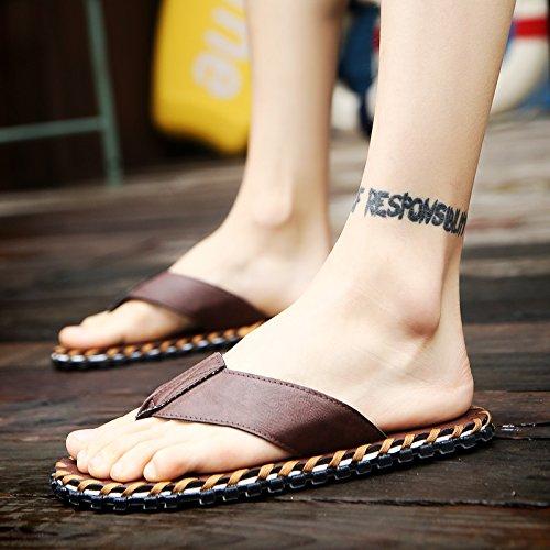 Xing Lin Sandalias De Hombre Los Hombres De Verano Flip Flop Sandalias De Hombres Inglaterra Playa Antideslizante Shoes Zapatillas Zapatos Sandalias Casuales Y Zapatillas Hombres brown