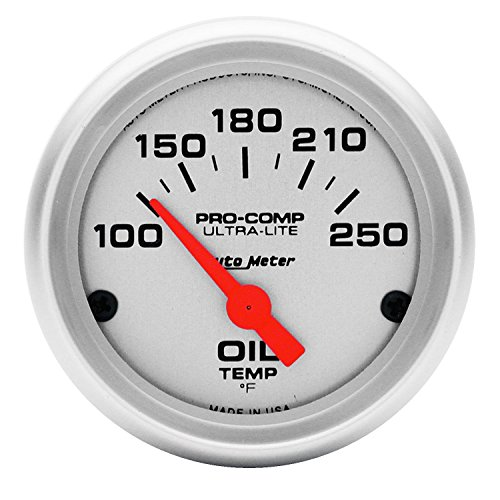 Auto Meter 4347 Ultra-Lite Electric Oil Temperature Gauge by Auto Meter