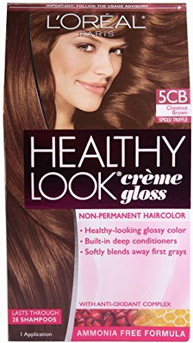L'oreal Paris Healthy Look Crème Gloss (Pack of 3) (Chestnut Brown 5CB) by L'Oreal Paris