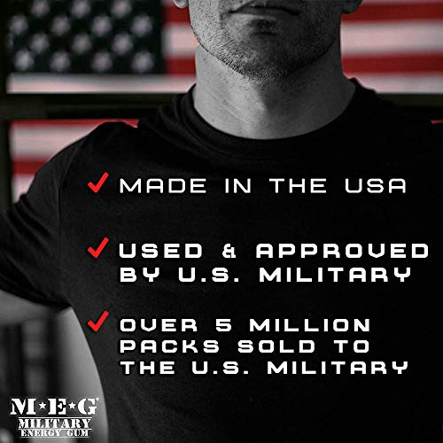MEG - Military Energy Gum | 100mg of Caffeine Per Piece + Increase Energy + Boost Physical Performance + Spearmint (1,440 Count) by MEG (Image #4)