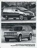 1994 Press Photo 1994 Chevrolet Lumina Minivan LS S-10 Blazer 4 Door 4WD