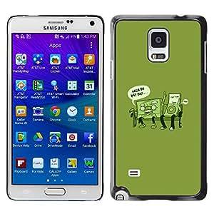 Smartphone Rígido Protección única Imagen Carcasa Funda Tapa Skin Case Para Samsung Galaxy Note 4 SM-N910F SM-N910K SM-N910C SM-N910W8 SM-N910U SM-N910 Retro Music Love Life Time Funny Quote / STRONG