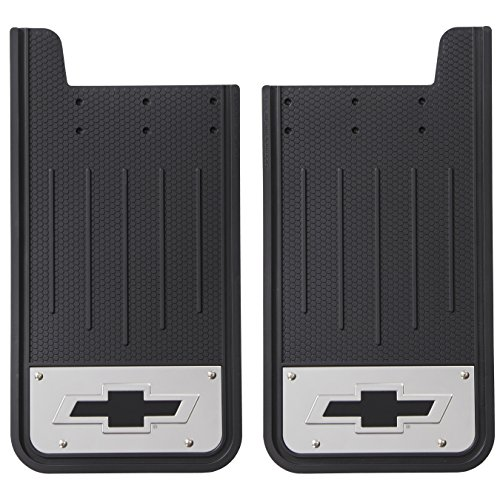 Plasticolor 000596R01 Chevy Black Rear Heavy-Duty Mud (Plasticolor Mud Flaps)