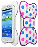 3 d phone cases galaxy s3 - Samsung Galaxy S3 Case, Bastex Silicone 3D Bow Knot Case - Pink and Blue Dots with Purple Design For Samsung Galaxy S3, S III (i9300)
