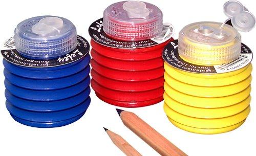 Kum 105.26.21 Softie Magnesium Alloy Left Handed 2-Hole Steel Blade Pencil Sharpeners, Colors ()