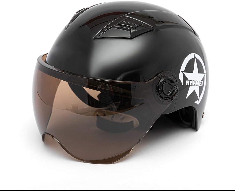 Kkmoon Motorradhelm Helm Motorrad Halbhelm Für Damen Herren Halboffenes Gesicht Einstellbare Größe Schutz Getriebekopf Helme Für Motorradfahrer Rosa Auto