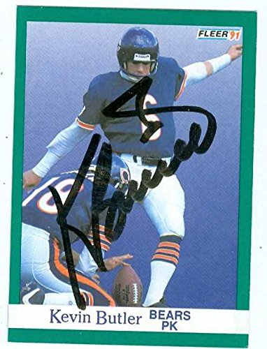 Kevin Butler autographed Football Card (Chicago Bears) 1991 Fleer #215 - NFL Autographed Football Cards