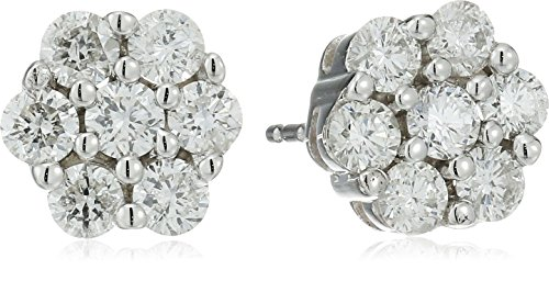 Tw Diamond Cluster Earrings - 7