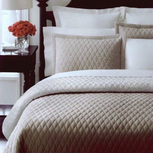 amazoncom martha stewart collection solid diamond khaki fullqueen quilt bedding home kitchen - Martha Stewart Bedding