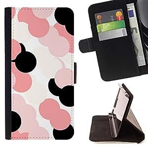 - pink pattern white black/ Personalizada del estilo del dise???¡¯???¡Ào de la PU Caso de encargo del cuero del tir???¡¯????n del s - Cao - For Sony Xperi