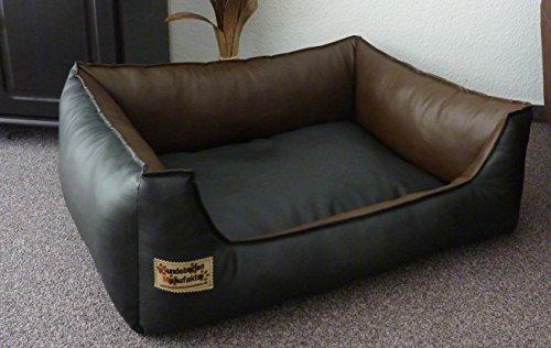 3211316e6918 Panier pour Chien en similicuir Similpelle 80 cm X 60 cm noir et marron   Amazon.fr  Animalerie
